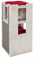 """Домик-башня для кота Trixie """"Mora"""" 78см,серый/красный"""
