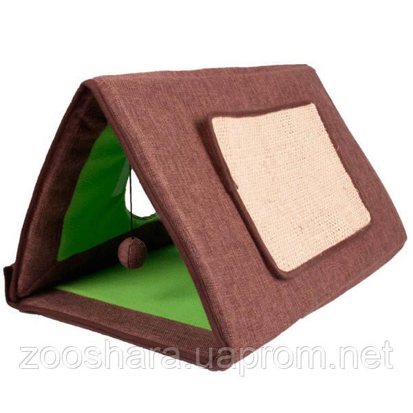 Karlie-Flamingo CAT TENT 3in1 спальное место-домик, драпак для котов, зеленый, 50см