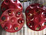Колпаки колесные заз 1102 1103 таврия славута Красные к-кт 4 шт, фото 4