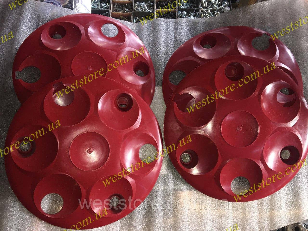 Колпаки колесные заз 1102 1103 таврия славута Красные к-кт 4 шт