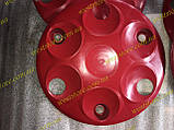 Колпаки колесные заз 1102 1103 таврия славута Красные к-кт 4 шт, фото 2