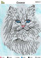 Схема для вышивки бисером Снежок