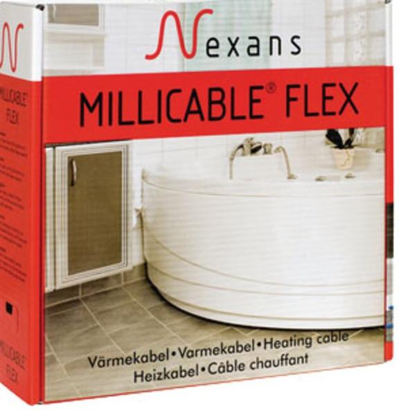 Nexans тонкий кабель под плитку 3,0 м2. Mallicable Flex/2