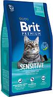 Brit Premium Cat Sensitive 8кг - корм для кошек с чувствительным пищеварением