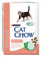 Cat Chow (Кэт Чау) Sensitive 15кг - корм для кошек с чувствительной кожей и пищеварением