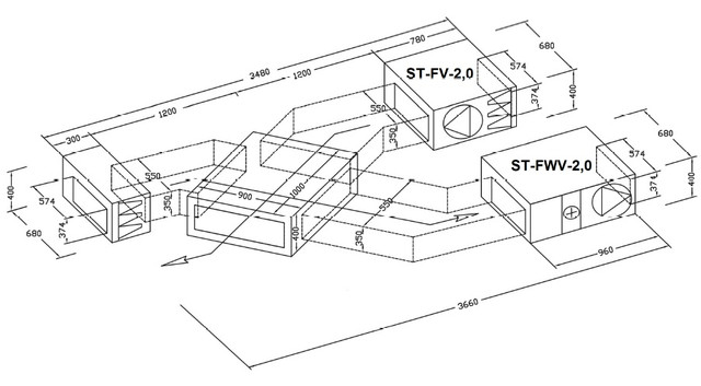 Вентиляционные установки типа ST-II (вентилятор с ЕС двигателем)