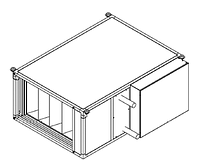 Вентиляционные установки Rest Air типа ST-II (вентилятор с ЕС двигателем) ST-FEV-2,0   электрокалорифер