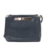 Маленькая женская сумка через плечо синего цвета