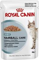 Royal canin Hairball Care (в соусе) Полнорационный корм для взрослых кошек (мелкие кусочки в соусе)