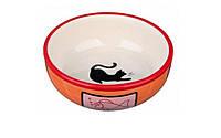 Миска керамическая для кошек , d12,5 см, 350 мл