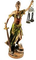 Статуэтка Фемида покрытая латунью 100х200х70