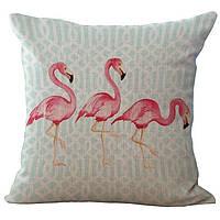 """Декоративная наволочка на подушку """"Flamingo"""""""