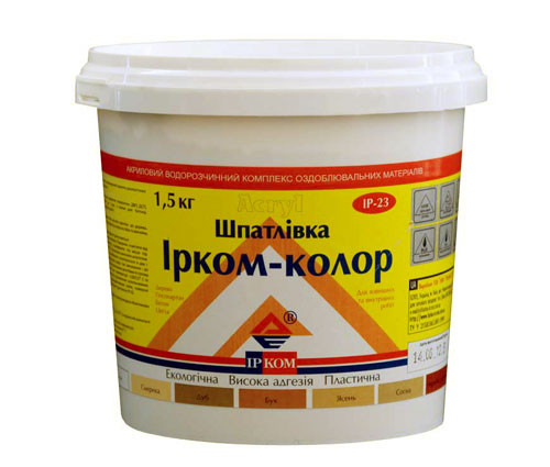 """Шпаклівка """"Ірком-Колор"""" ІР-23 ясний 0,35 кг"""