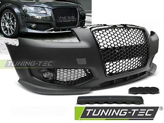 Передний бампер тюнинг обвес Audi A3 8P стиль RS черная глянц.