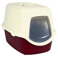 Закрытый туалет для котов Vico, Trixie бордовый