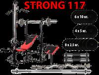 Лавка HS1070 + Штанга + гантели 117 кг.