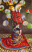 Схема для вышивки бисером POINT ART Японка, размер 23х37 см