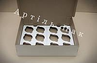 Коробка для 12 кексів, маффінів, капкейків 340*255*100 Нова  Коробка для кексов, маффинов, капкейков