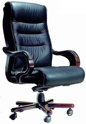 Кресло руководителя Президент, кожзам черный