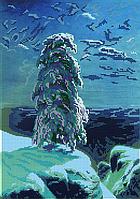 Схема для вышивки бисером POINT ART На Севере диком, размер 28х40 см