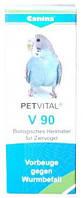 Canina PETVITAL V90 при появлении глистов и для профилактики у птиц, 10 гр (дражже)