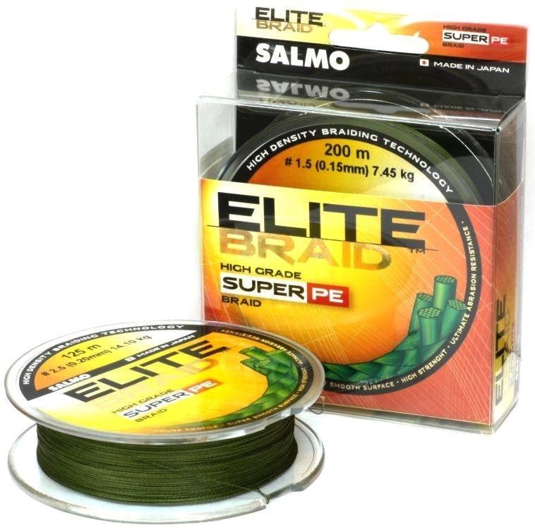Шнур Salmo Elite Braid 0,11mm 125m Green