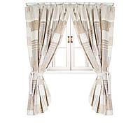Шторы patch work. Красивые , стильные итальянские шторы на завязках.   250*140см.