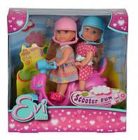 """Куклы Эви """"Веселое путешествие на скутере"""" со шлемами, 3+"""