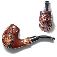 """Трубка курительная """"Cказка"""" Двуглавыйй орел, ручная работа, резьба по дереву"""
