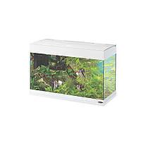 Ferplast DUBAI 80 LED WHITE-Стеклянный аквариум с лампой, внутренним фильтром и таймером Размеры: 81 x 36 x h 51 cm - 125 L