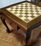 Шахматный стол. Дуб. Темный
