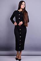 Барбара. Стильное платье. Черный. 42