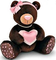 Медведица сидящая с сердечком 20 см Choco & Milk Orange (M003/20)