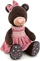 Медведица сидящая в розовом платье 25 см Choco & Milk Orange (M5043/25)