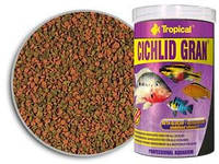 Tropical Cichlid Gran гранулированный корм для цихлид, усиливающий цвета, 10 л/5,5 кг.