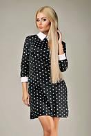 Платье трикотажное, черное