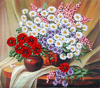 Набор для вышивания лентами Полевые цветы НЛ-3005