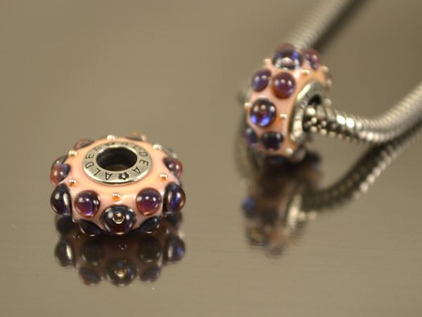 Бусина Интро для браслетов Пандора, бордовый фиолет