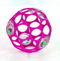 Мяч розовый с погремушкой OBall (81031-6)