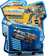 Пистолет-трансформер 2 в 1 SLIDER (6 мягких пуль блистер) RoboGun (K03)