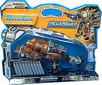 Пистолет-трансформер 2 в 1 MEGAPOWER (10 мягких пуль блистер) RoboGun (K05)