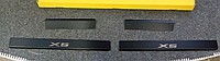 Накладки на пороги BMW X5 II (E70) 2006- 4шт. Карбон
