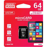 Карта памяти microSD Goodram 64GB class10 UHS-I + адаптер