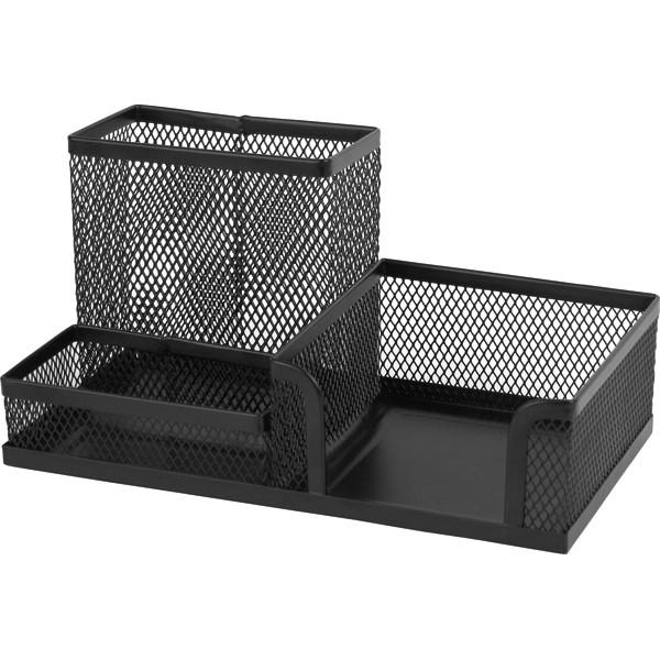 Підставка-органайзер Axent 2116-01-A, 203x105x100 мм, 3 відділення, чорна
