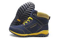 Ботинки подростковые Purlina 792В-4 зимние темно-синие