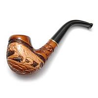"""Трубка для курения табака """"Cказка"""" Пантера, ручная работа, резьба по дереву"""