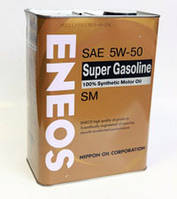 Масло моторное Eneos Super Gasoline SM 5W-50 100% Synthetic 4лит