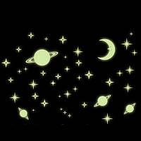 Фосфорные светящиеся в темноте звезды на потолок, стену купить  (3654851)