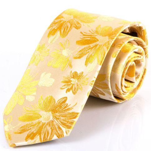 Мужской шелковый галстук SCHONAU & HOUCKEN FARESHS-13 желтый