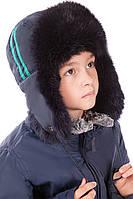Детская шапка-ушанка на синтепоне